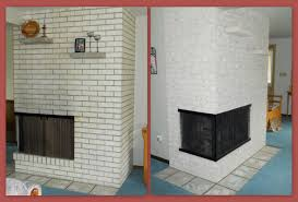 stripping paint from brick fireplace home design inspirations