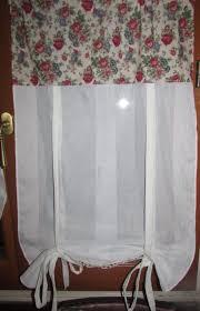 brise bise coeur 2 rideaux brise bise voile de coton tissu à fleurs chantale