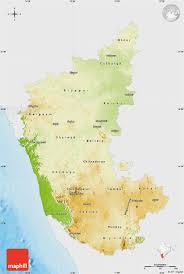 India Physical Map by Free Physical Map Of Karnataka Single Color Outside
