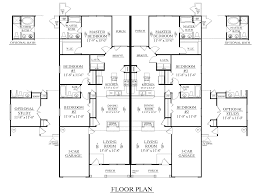 1 5 Car Garage Plans Houseplans Biz House Plan D1392 D Duplex 1392 D