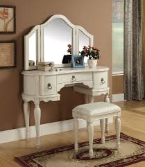Mirrored Vanity Set White Makeup Vanity Set With Lights Home Vanity Decoration