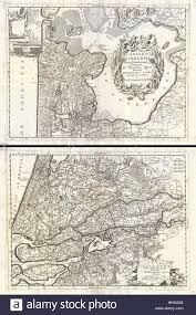Map Of Holland 1690 Coronelli Map Of Holland Or The Netherlands 2 Sheets Stock