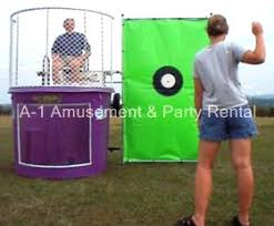dunk booth rental dunk tank cincinnati a 1 amusement party rentals inflatables