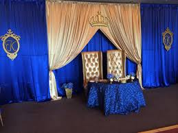blue and gold baby shower decorations royal prince parents to be table setting royal prince baby