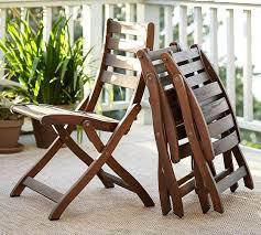Folding Dining Chairs Wood Chatham Folding Armchair Honey Pottery Barn