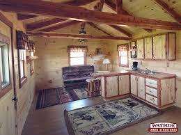 Cabin Style Wayside Lawn Structures Hunter Lodge Style 12 U0027x32 U0027 Log Cabin