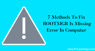 format hard disk bootmgr missing 7 methods to fix bootmgr is missing error in computer