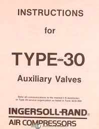 ingersoll rand model 71t2 type 30 air compressors auxiliary
