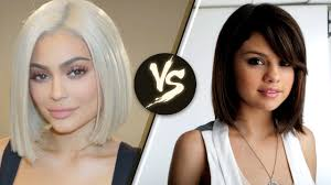 kylie jenner and selena gomez debut new 2017 short hair trend