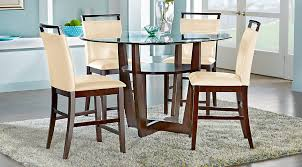 Rooms To Go Dining Table Sets by Ciara Espresso 5 Pc Counter Height Dining Set Dining Room Sets