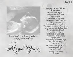 s day gift from baby to be s day gift from unborn baby personalized