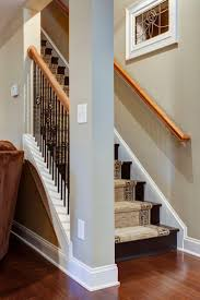 Remodel Basement Stair Exciting Basement Stair Ideas For Beautifying The Often