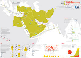 Middle East Maps by Map Gallery Middle East Telecommunications Map 2010