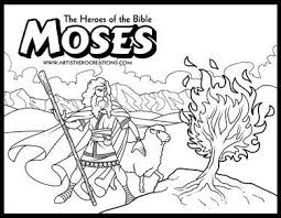 The Heroes Of The Bible Coloring Pages Moses And The Burning Bush Bible Coloring Pages Moses