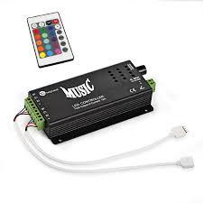 led strip light controller dc12 24v 3a4ch max 144w led music rhythm black or white