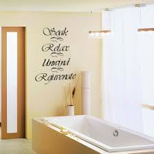 amazing bathroom quote decal wall sticker large size bathroom cool black wall decal soak relax unwind rejuvenate quote vinyl