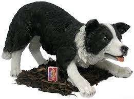 border collie sheepdog resin garden ornament 75 99