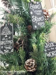 chalkboard tree ornaments clean scentsible