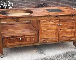 Green Egg Table by Grill Table Or Grill Cabinet For Big Green Egg Kamado Joe