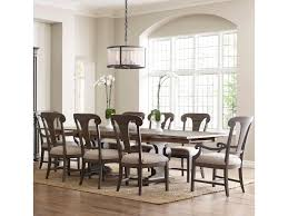 kincaid furniture greyson nine piece dining set with crawford