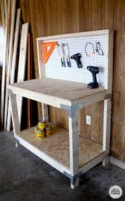 Build A Work Table Garage Workbench Diy Workbench With Simpson Strong Tie Kit