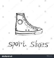 hand drawn sketch sport shoes sneakers stock vector 410176720