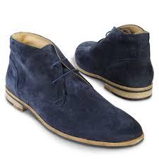 kg by kurt geiger storm desert boots in blue for men lyst