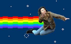 Scarlett Johansson Falling Down Meme - scarlett johansson falling down vs nyancat imgur