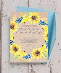 sunflower wedding invitations rustic sunflower wedding invitation from 1 00 each