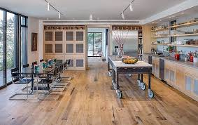 industrial style kitchen island dramatic cliff dwelling in by specht harpman architects