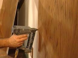 Diy Wood Panel Wall by How To Cut Stain And Install Wainscoting Panels How Tos Diy