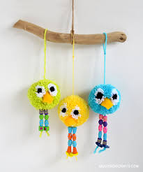 how to make u2013 pom pom bird craft plushie patterns