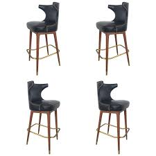 Black Leather Bar Stool Collection In Black Leather Bar Stool Boheme Leather Counter Stool