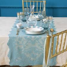 dark blue crochet table runner table runners tableware zara