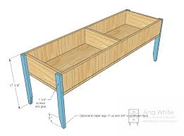 Easy Wood Coffee Table Plans by Ana White Wooden Train Table Coffee Table Diy Projects