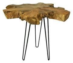 teak wood side table teak root side table teak root slab coffee table with hairpin legs
