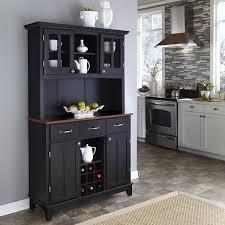 black modern kitchen black hutch furniture in the modern kitchen with wine storage