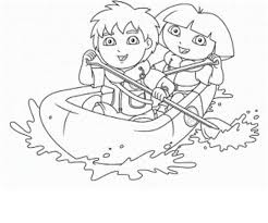 free coloring pages explored dora bike coloring