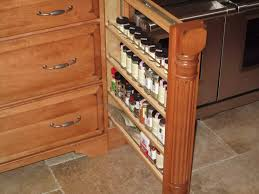 stained pull out spice rack with column detailing best of