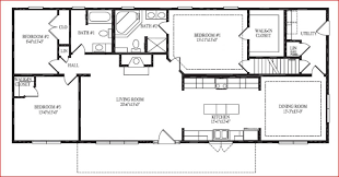 ranch style house floor plans fascinating 3 bedroom rambler floor plans also ranch style house