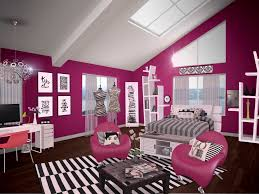 Pink Black U0026 White Teen by Teenage Bedroom Paint Colors In Black And Magenta With Pink
