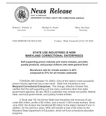 maryland correctional enterprises prison labor with a smile the