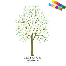 baby shower tree haochu fingerprint tree signature baby shower guest book