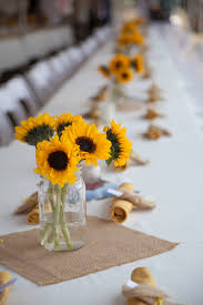 Sunflower Wedding Centerpieces by Rustic Sunflower Country Wedding Wedding Sunflower Centerpieces