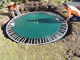 8 diy steps for installing an inground trampoline oz trampolines