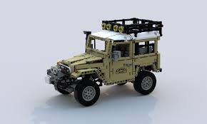 lego toyota lego moc 2770 toyota land cruiser fj40 hard top expedition