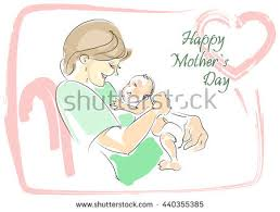 s day greeting cards mothers day greeting card baby stock vector 440355385