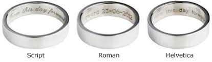 wedding band engravings engraving your wedding ring with a personal message