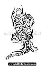 tribal tiger tiger vector illustration