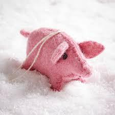 felt pig ornament west elm